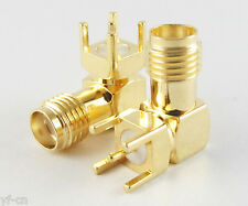 50x SMA RF Female Jack Right Angle 90'PCB Board Mount Coaxial Adapter Connector