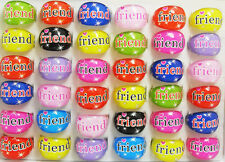 100x Kids FRIEND Resin Rings Wholesale Children Party bag fillers Jewelry Lots