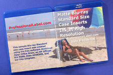 Blu-ray Standard Size 12mm Case Insert Covers Photo Matte 25 sheets 43383HR