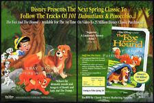THE FOX AND THE HOUND__Original 1993 Trade Print AD movie promo__Walt Disney