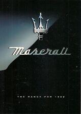Maserati 1998-99 UK Market Foldout Sales Brochure 3200 GT Coupe Quattroporte