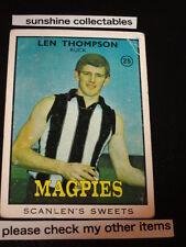 1968B SCANLENS CARD NO.25 LEN THOMPSON COLLINGWOOD GOOD