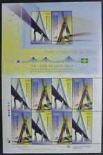Korea Süd 2009 Brücken Bridges Joint Issue Brasilien 2740-41 Kleinbogen MNH