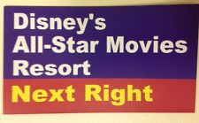 "Walt Disney World Road Sign Inspired Magnet 2"" X 3.5"" Disney's All-Star Movies"