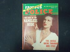 1954 MARCH FAMOUS POLICE CASES MAGAZINE - NICE STORIES & PHOTOS - ST 4372