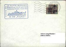 Schiffspost Stempel M 710 PEGASE Ship Flotten Schiff aus Frankreich Brief 1963
