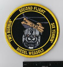 """Us Army Aviation Patch, 2nd Flt B Co 2-1 Avn """"Diesel Weasels"""" (Ch-47) Ver 2"""