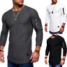 Men's Slim Fit Long Sleeve Muscle Tee T-shirt Casual Tops Blouse Pullover