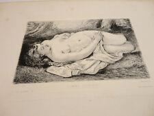 EAU FORTE DE Courbet Gustave Femme couchée imp taneur paris