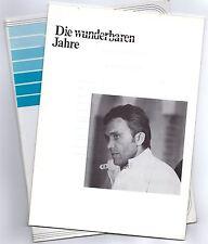 Die Wunderbaren Jahre Presseheft press book Rolf Boysen, Dietrich Mattausch