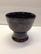 WINE GOBLET hand thrown stoneware pewter gloss pottery NC potter Helen Seebold