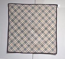 Burberry Mini Scarf Pocket Square Handkerchief Handbag Tie Cotton Nova Check