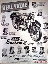 1958 Motor Cycle ADVERT - B.S.A. '175cc Bantam Super' (£98 + P.Tax) Print AD #4