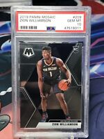 2019-20 Mosaic Zion Williamson Rookie Card RC #209 PSA 10 GEM MINT Pelicans I3