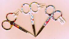 Embroidery Scissors 10cm/4inch Snips CHOOSE Spots Flower Set Colour or Quantity