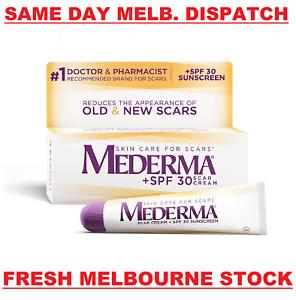 MEDERMA + SPF 30 Advanced Scar Gel Cream Treatment 20g Skin Care Old & New Scars