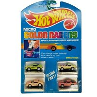 Hot Wheels Micro Color Racers # 3227 STREET PACK 4 Pack Cars Mattel 1988