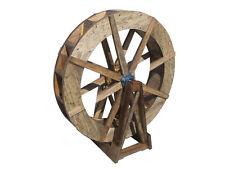 """SamsGazebos Free-Standing Wood Water Wheel, 30"""" Dia., Made in USA"""