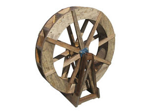 "SamsGazebos Free-Standing Wood Water Wheel, 30"" Dia., Made in USA"