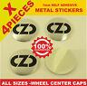 wheel center caps 4x metal STICKERS front rear badge hub emblem cover OZ RACING
