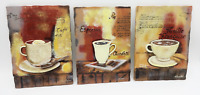 Silvia Vassileva Coffee Cup Cafe 3D Kitchen Home Decor Wall Hanging Plaques Lot