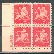 US Stamp (L125) Scott# C38, Mint NH OG, Plate Block, Air Mail