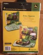 John Deere Tractor Pop-Up Activity Place Mats Party 4 pc New Sealed DesignWare
