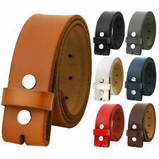Falari Replacement One Piece Leather Belt Strap Without Buckle Snap on Strap 1.5