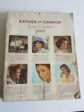 Eaton's 1965 Spring and Summer Catalogue Catalog Vintage Canada