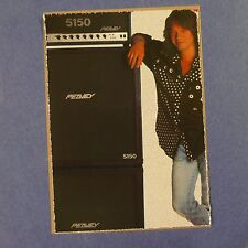Pop-card feat. Van Halen / PEAVEY ad, 11x15cm greeting card AAX