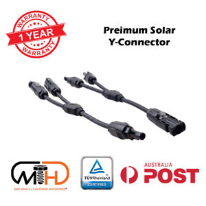 1 Pair Solar Y Connector Cable Plug Inline Solar PV Panel IP67 2 connection AU