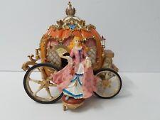 Fitz & Floyd Cinderella Pumpkin Carriage -Music Box Plays Swan Lake Really Nice