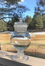 "Large 12"" Vintage Dakota Glass Apothecary Candy Jar"