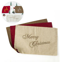 Merry Christmas Placemat Coasters Party Table Mat Home Decoration Decor For Xmas