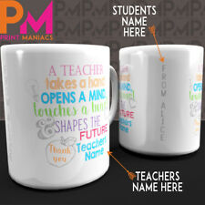 Personalised Thank You Teacher Mug End of Term Present Leaving Gift Best student