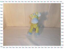 Y - Doudou Peluche Girafe Verte Bleu avec Broderies Mots d'Enfants