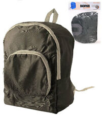 Compact Fold-Away Backpack Rucksack Daypack - Travel Bag Camping - Festival Case