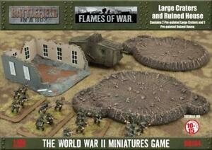 Battlefront FoW Great War Large Craters & Ruined House SW