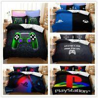 3D Gamer Duvet Cover Video Handle Bedding Set Game Over Quilt Cover PillowCase