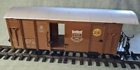 TRAIN G SCALE MODEL RAILWAY BROWN BOX WAGON - (VERY GOOD CONDITION)