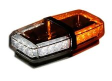 Amber White LED Beacon Light Bar roof top mag Warning wide load Security strobe