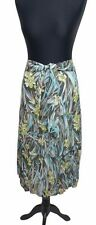 GERRY WEBER Skirt Size 14 Grey Blue Floral L30IN Evening Party Casual Holiday *