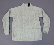 Abercrombie & Fitch Women'sCable Mock Neck Sweater SH3 Mint Green Size XS NWT
