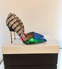 Kurt Geiger London Bond Verde Lentejuelas Ombre Tribunal Zapatos Talla 4 37 RRP £ 270 Nuevo Y En Caja