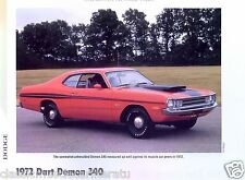 1972 Dodge Dart Demon 340 ci Info/Specs/photo/price 11x8