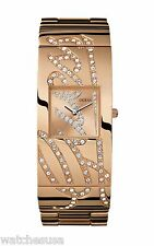 Guess Ladies Fashion Analogue Watch with Rose Gold Steel Bracelet W16558L1