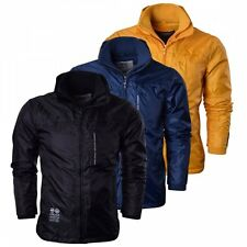 Crosshatch Waist Length Zip Raincoats for Men