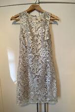 Vestido De Encaje Lipsy London Beige Elegante Talla 12 no desgastadas ver fotos para la medición