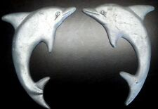 Set of 2 Cast Aluminum Dolphins (Left and Right)