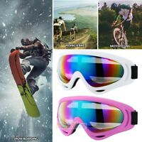 2Pack Ski Goggles Snowboard Snow Winter Sports Anti-Fog Glare Lens UV400 Glasses
